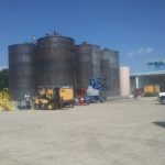 new liquid storage tanks in MS ready to be sand blasted and coated