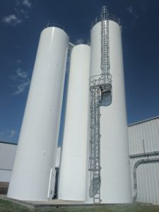 shows NC Oxford Industrial Silos Painted